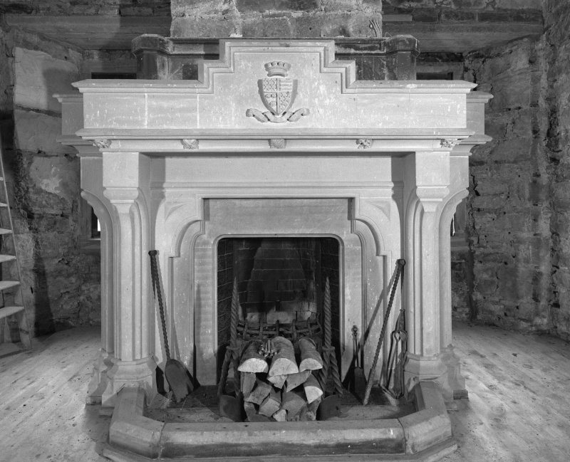 2nd. floor hall, detail of fireplace.