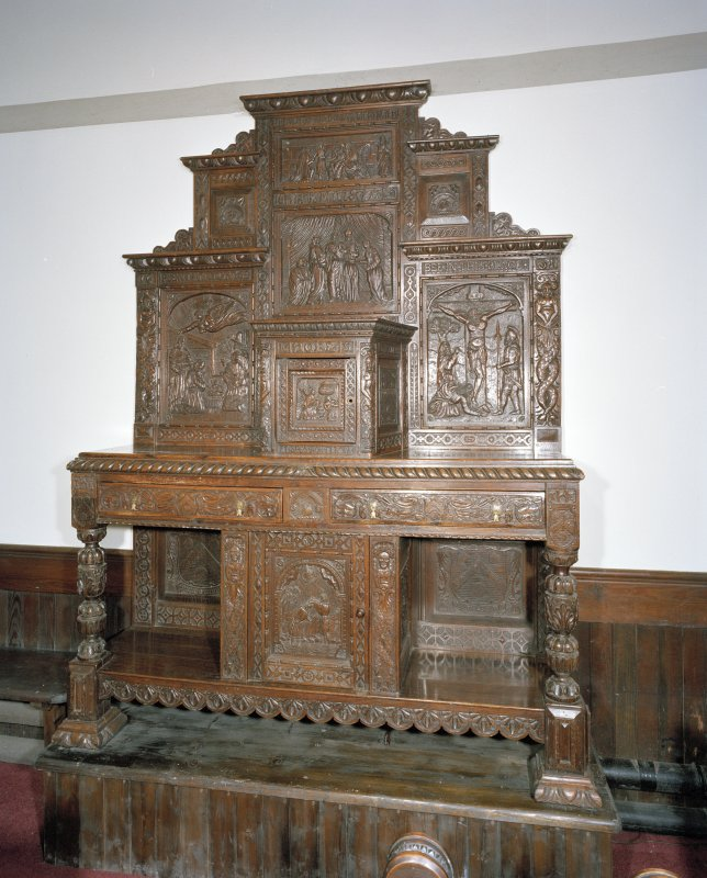 Interior. View of communion sideboard.
