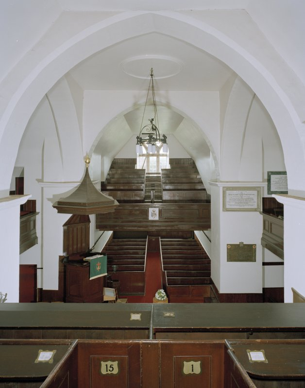 Interior. View from balcony to north