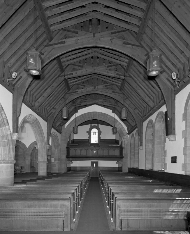 Interior. View of preaching hall from W.