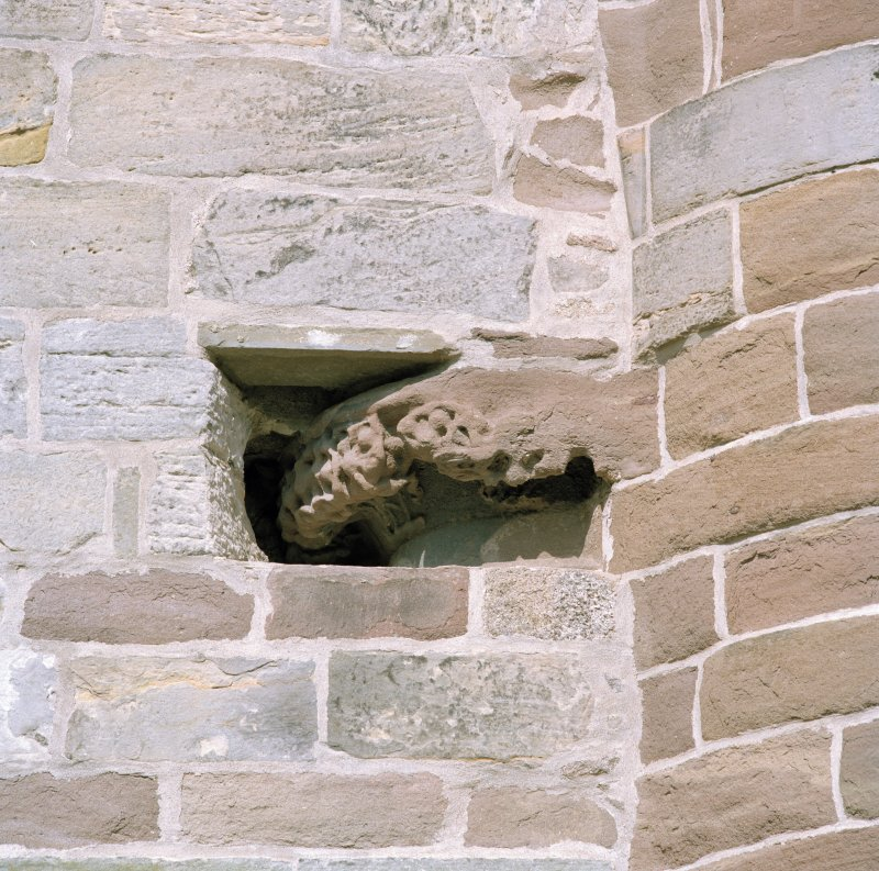 Aberdeen, Chanonry, St Machar's Cathedral. General view of East front, south arch of crossing, detail of carved capital on north side of arch.