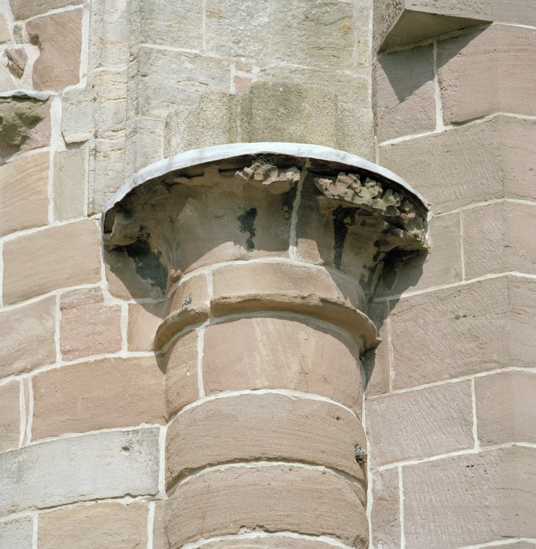 Aberdeen, Chanonry, St Machar's Cathedral. East front, detail of carved column head .