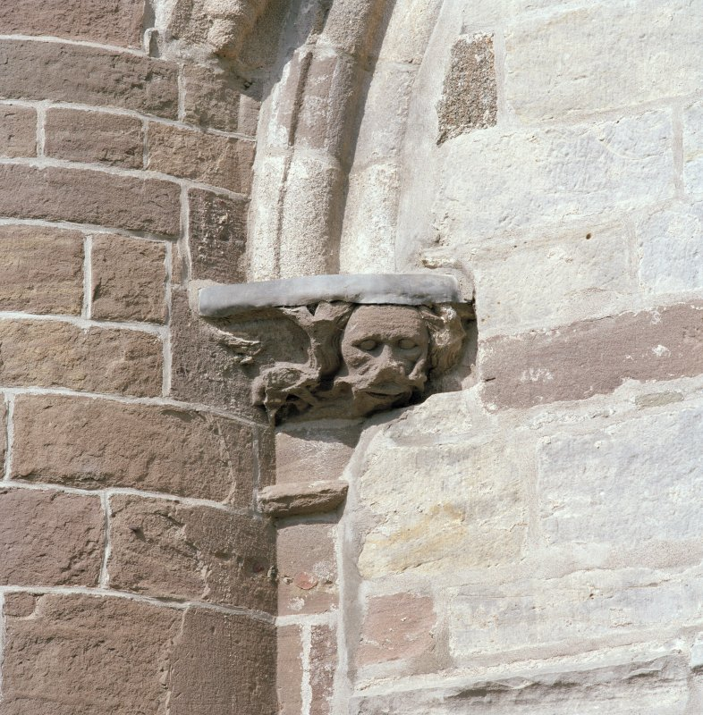Aberdeen, Chanonry, St Machar's Cathedral. East front, north arch of crossing, detail of carved capital on south side of arch.