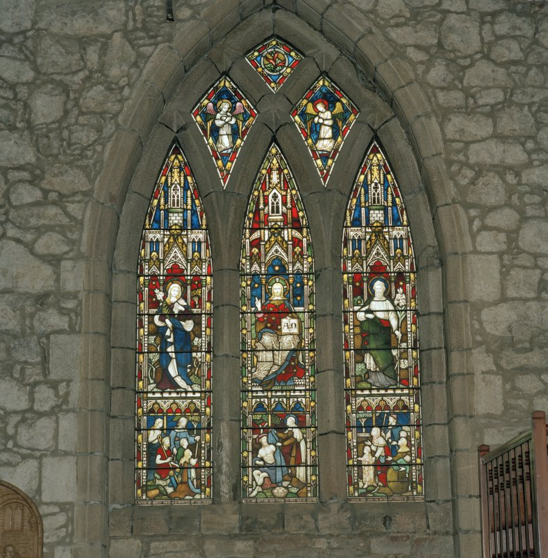 Aberdeen, Chanonry, St Machar's Cathedral, Interior. General view of stained glass window in south wall.