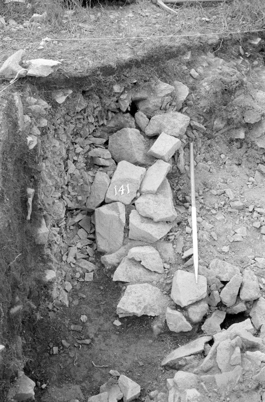 Excavation photograph : area I - f141, from east.