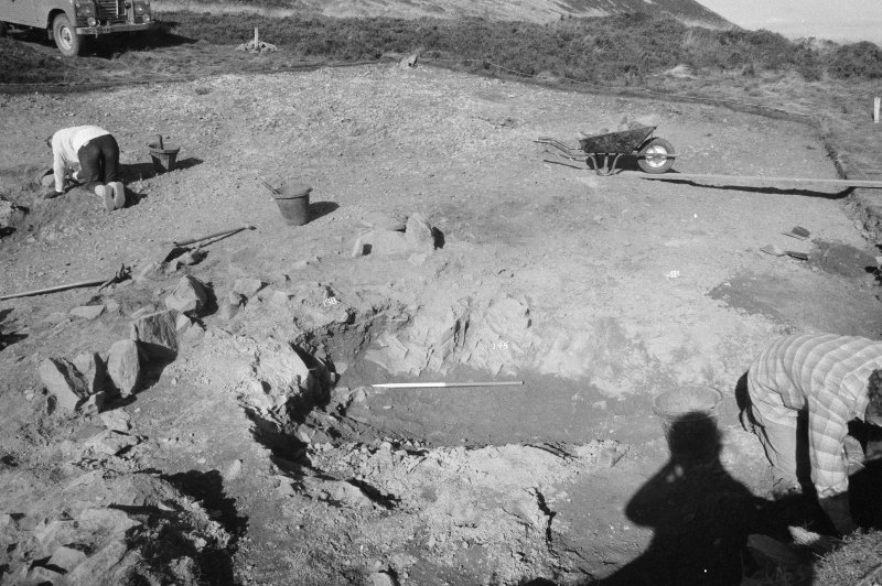 Excavation photograph : area I - cut f145, from SW.