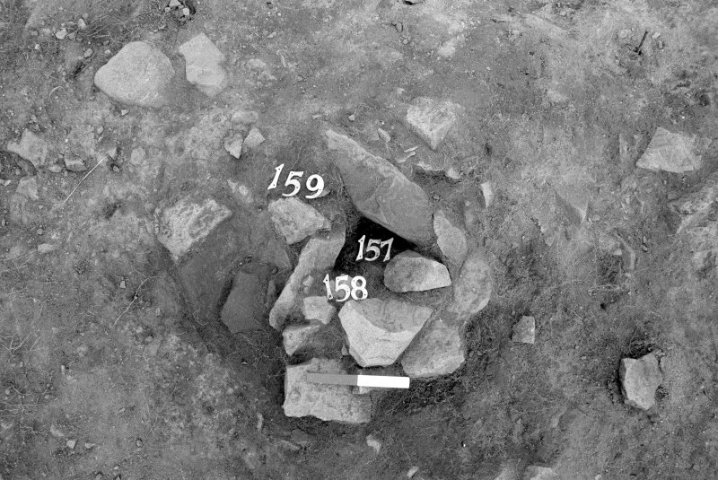 Excavation photograph : area I - f157/158/159 prior to excavation, from W.