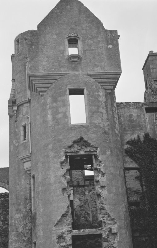 Detail of west elevation of Rothiemay Castle