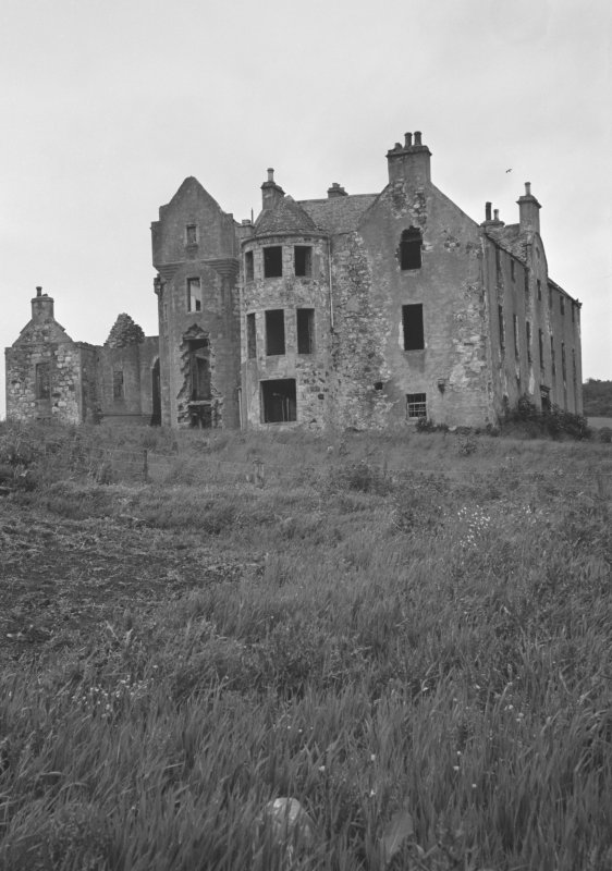 View Rothiemay Castle from south west