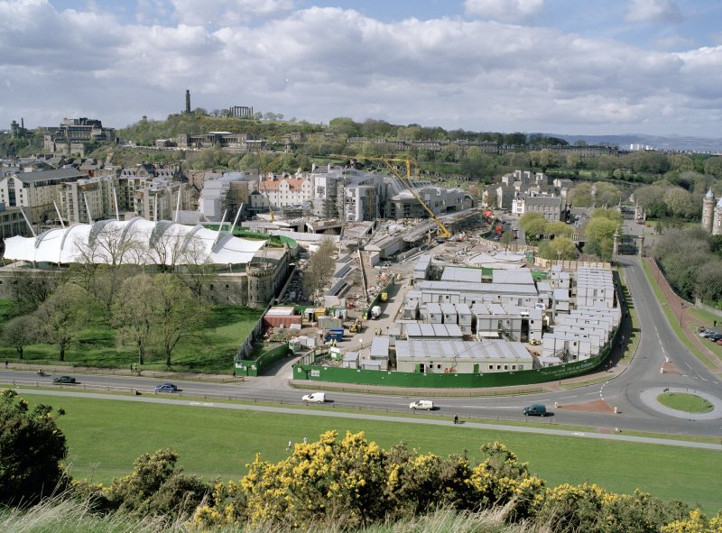 View of development site from Salisbury Crags.