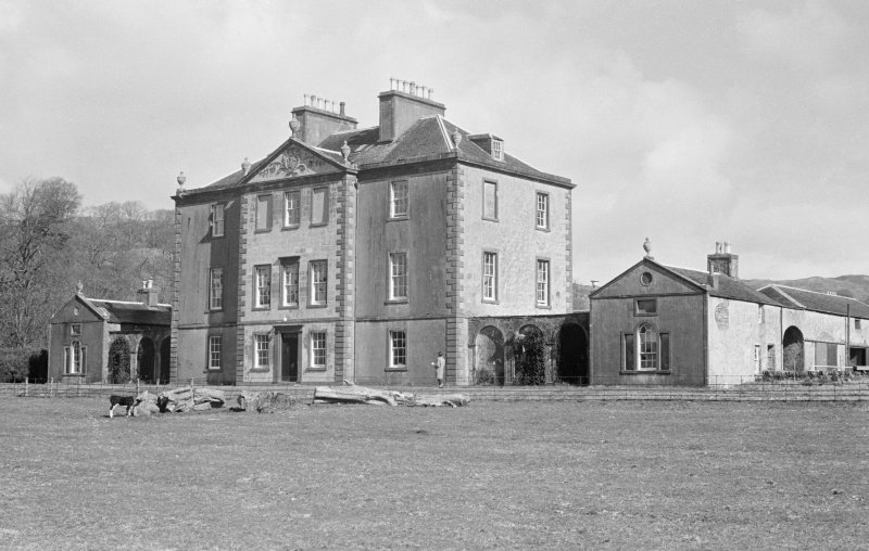 View of front elevation of Barbreck House