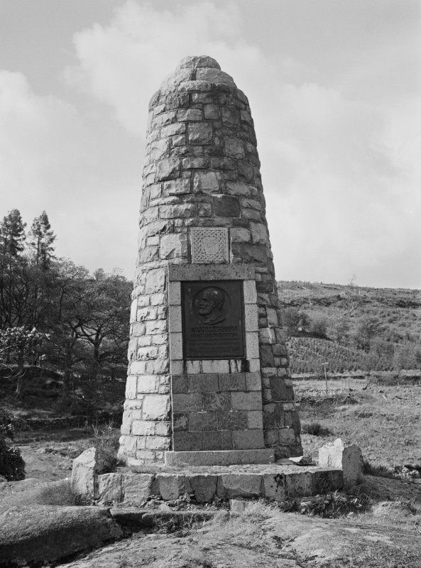General view of monument to Euan MacColl, Kenmore