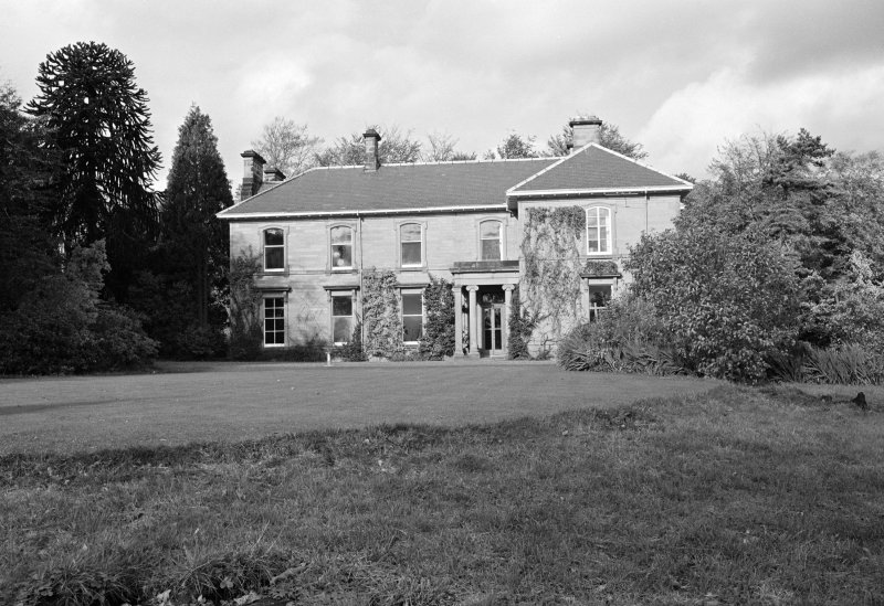 View of main front of Tweedhill House from south