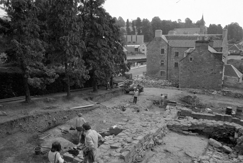 "Jedburgh Abbey excavation archive Frame 14: Area I working shot. (""Les and Trish visit Jedburgh Abbey"")"