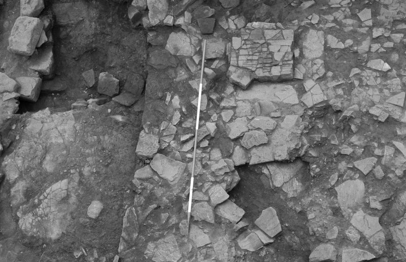 Jedburgh Abbey excavation archive Frame 13: Area 1: Room 11: Central area of building showing detail of 816. From N.