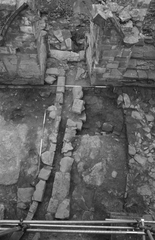 Jedburgh Abbey excavation archive Frame 4: Area 1: Room 11: Drain 814. From N.