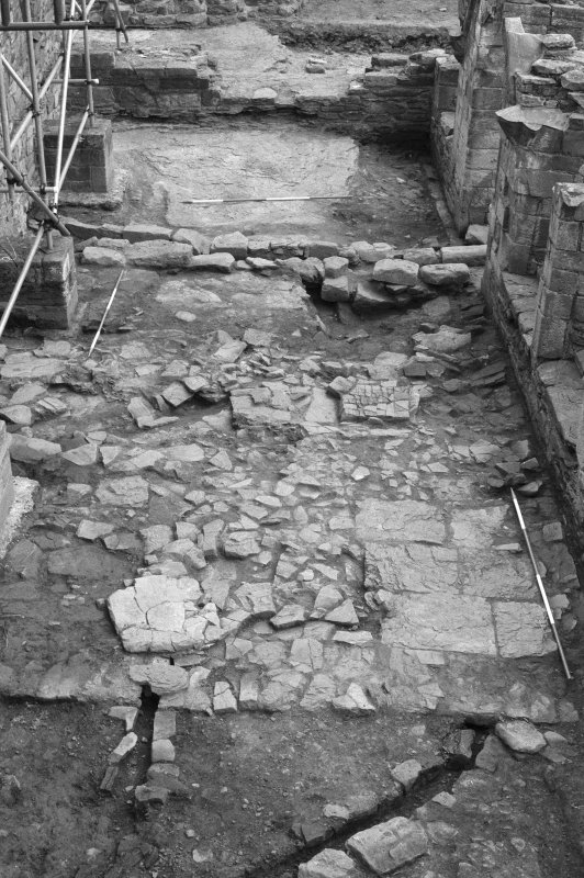 Jedburgh Abbey excavation archive Frame 5: Area 1: General view of Room 11. From W.