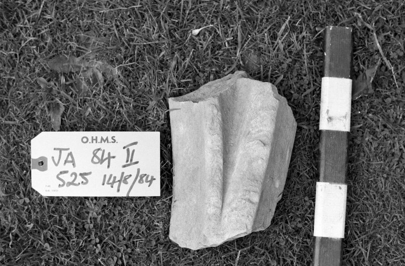 Jedburgh Abbey excavation archive Frame 37: Architectural fragments from 525.