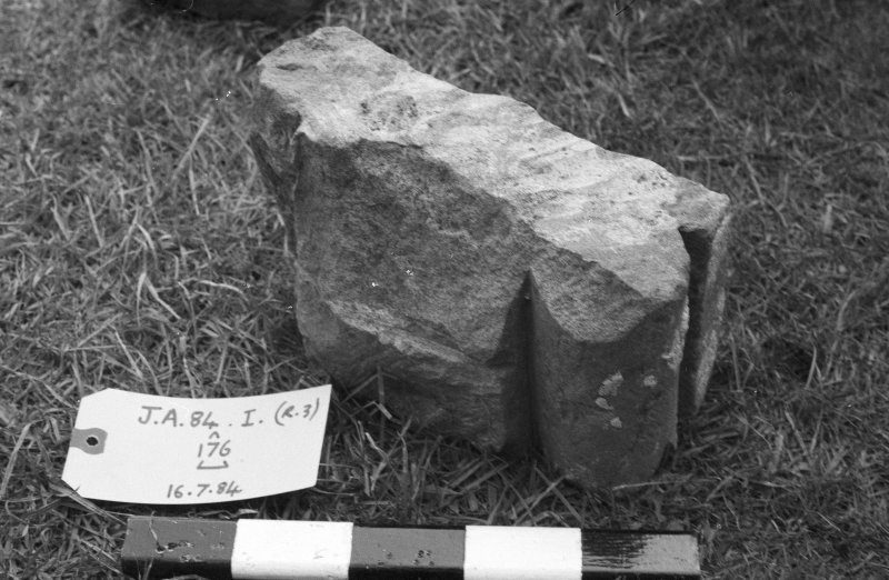 Jedburgh Abbey excavation archive Frame 13: Architectural fragments from 176.