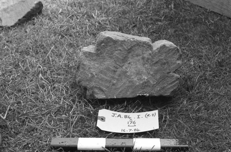Jedburgh Abbey excavation archive Frame 14: Architectural fragments from 176.
