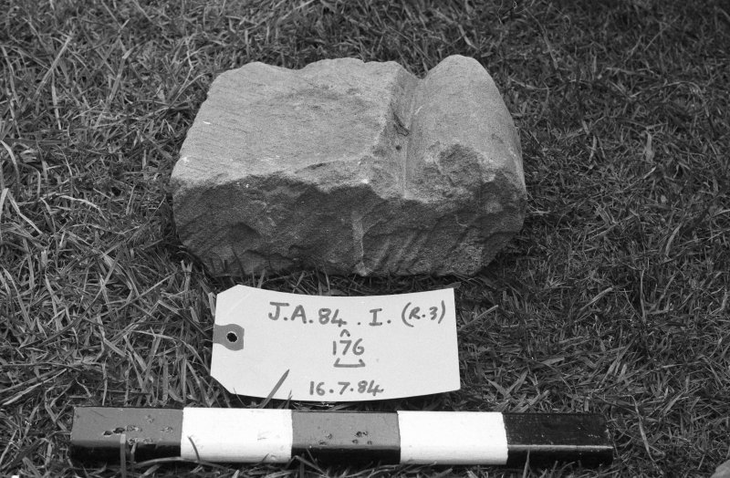 Jedburgh Abbey excavation archive Frame 15: Architectural fragments from 176.
