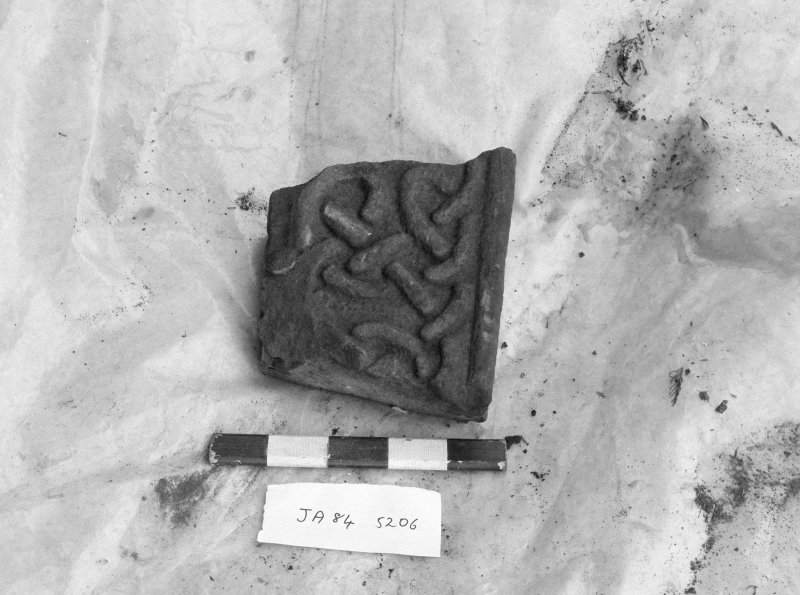 Jedburgh Abbey excavation archive Frame 13: Sculptured stone SF206 (Side 1)