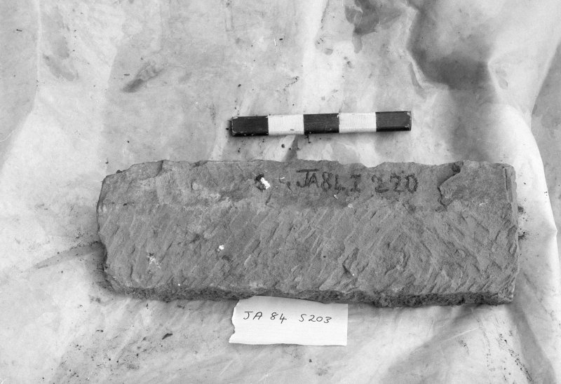 Jedburgh Abbey excavation archive Frame 4: Architectural fragment SF203