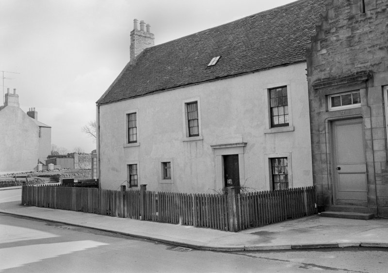 View of 35 South Street, Duns, from north east