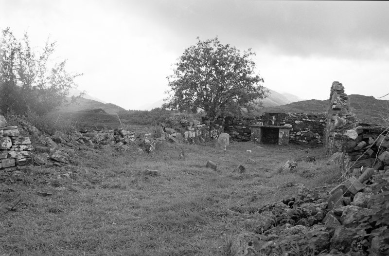 View of Interior of St. Finnan's Chapel, from West End, on Eilean Fhianain.