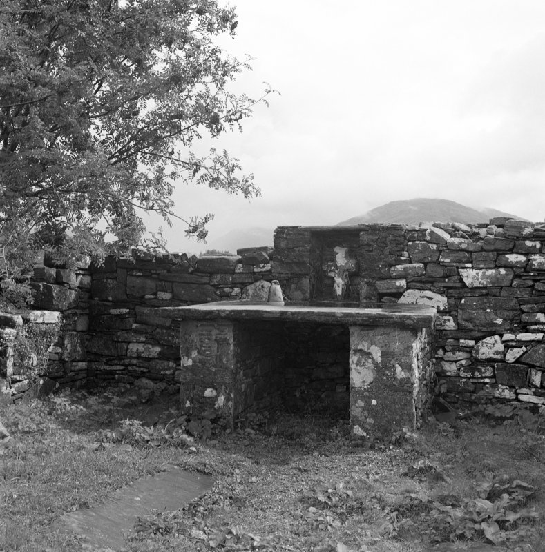 View of altar at East end of St. Finan's Chapel, on Eilean Fhianain.