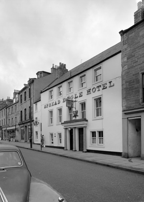 View of Spread Eagle Hotel, 20 High Street, Jedburgh from north east.