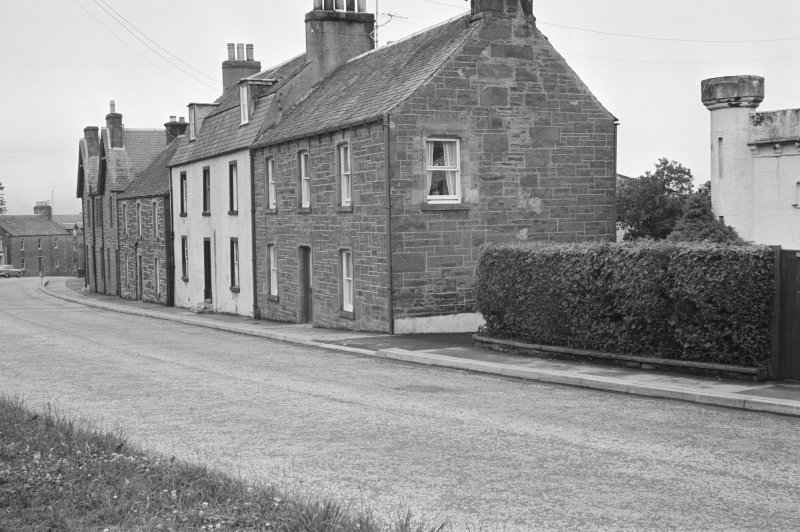 View of houses on the east side of Willoughby Street, Muthill, including Newra House, Struthill House and Park House.