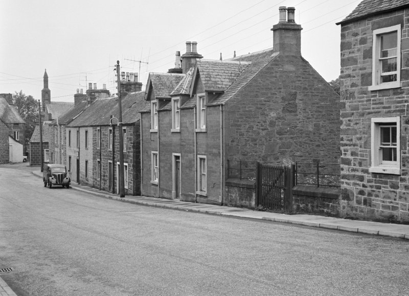 View of houses on the east side of Willoughby Street, Muthill, including Dunvegan and Victoria House.
