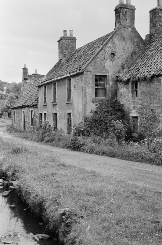 View of cottages in Balmblae, Falkland.