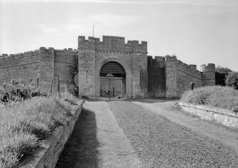 View of entrance to Jedburgh Castle Jail from NE.