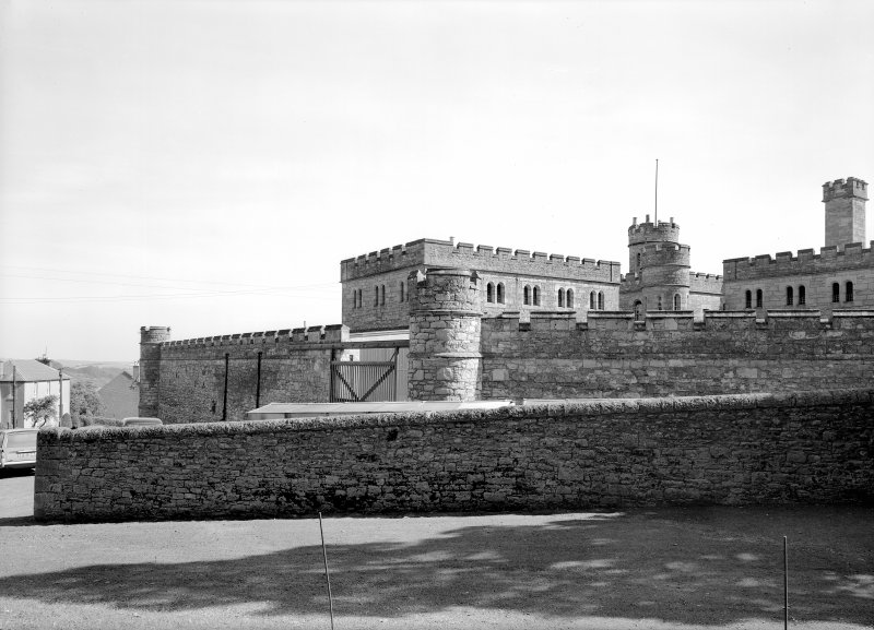 View of Jedburgh Castle Jail from SW.