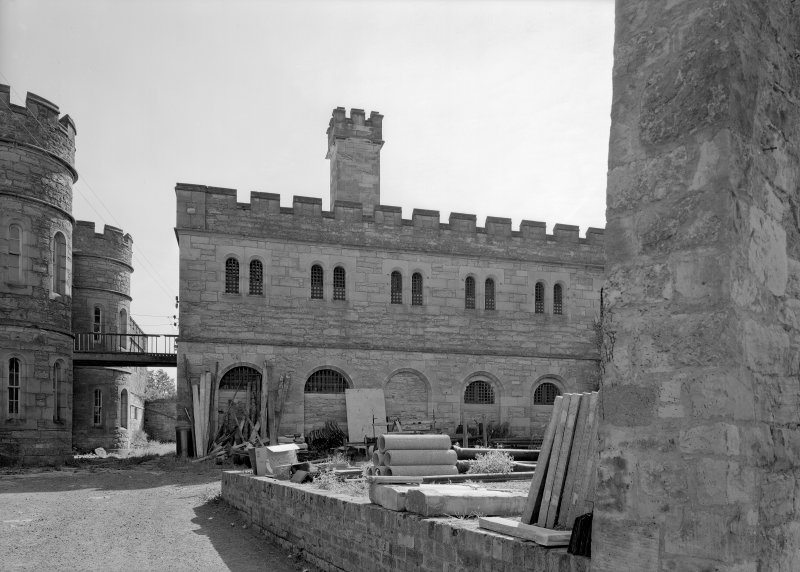 View of north west elevation of male block two, Jedburgh Castle Jail.