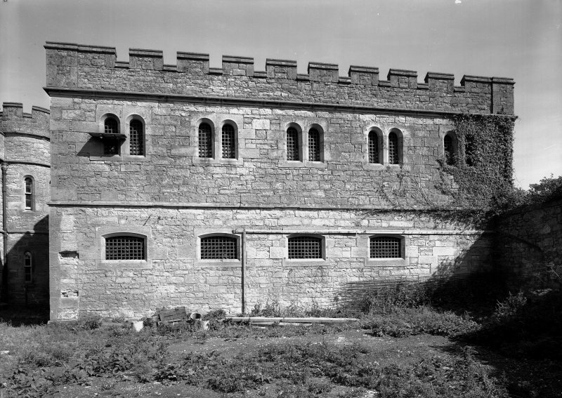 View of south west elevation of male block one, Jedburgh Castle Jail.