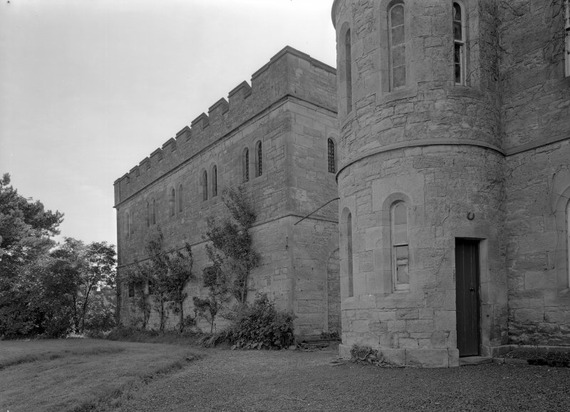 View of male block one and north elevation of Governor's House, Jedburgh Castle Jail.
