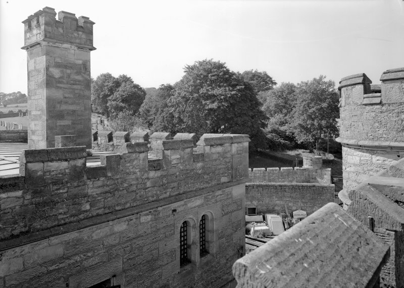 View of roof of male block two, Jedburgh Castle Jail.