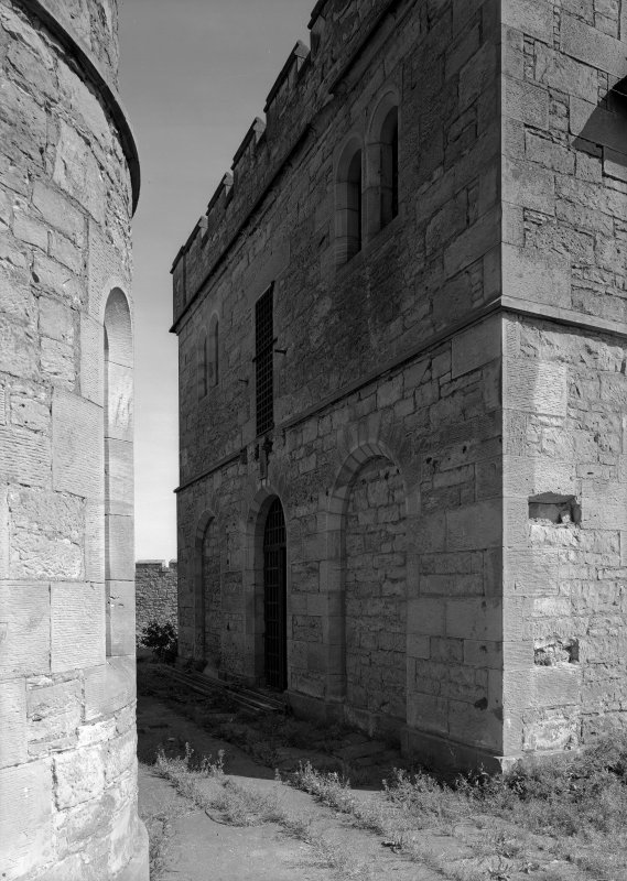View of north west elevation of male block, Jedburgh Castle Jail.