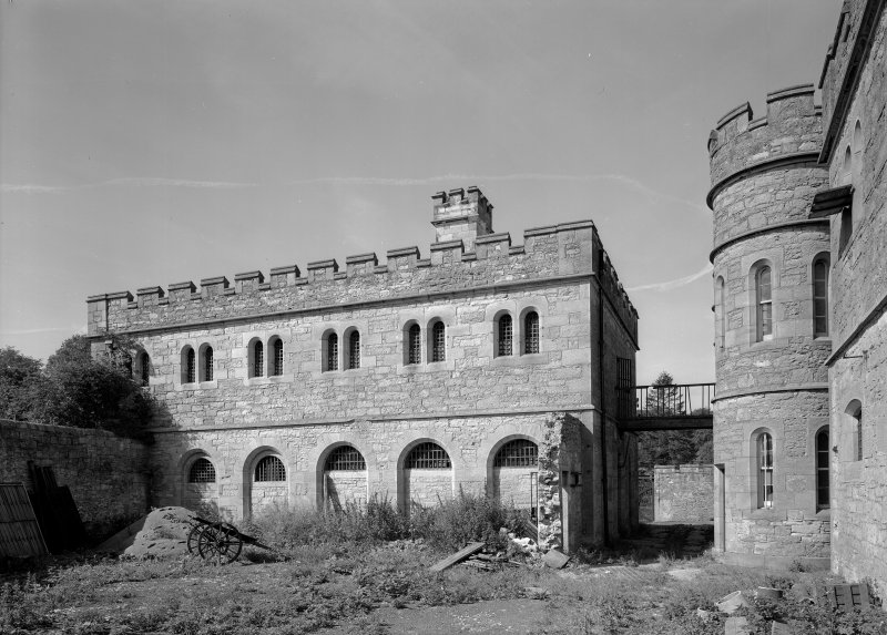 View of south elevation of male block two, Jedburgh Castle Jail.