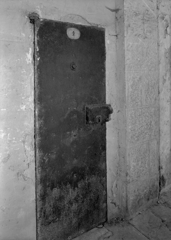 Detail of cell door, Jedburgh Castle Jail.