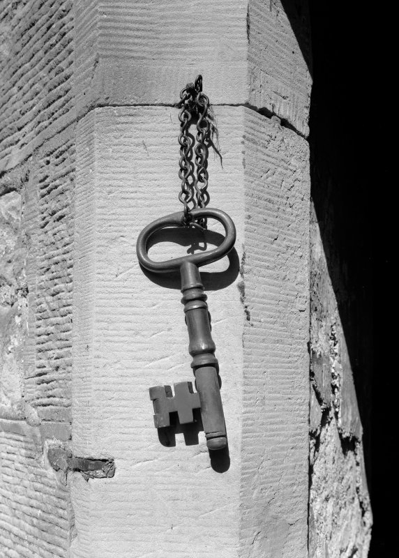 Detail of key to female block, Jedburgh Castle Jail.