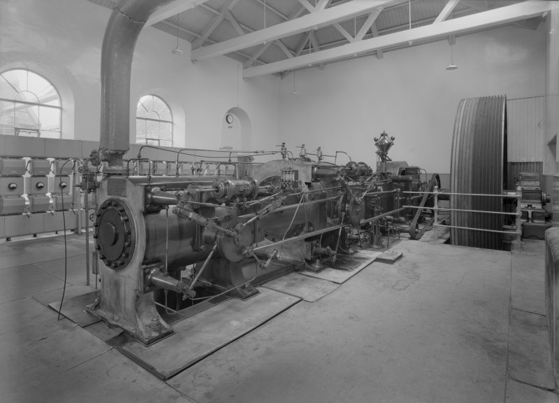 View of the Bolton Corliss Engine, Grandholm Mills, Aberdeen.