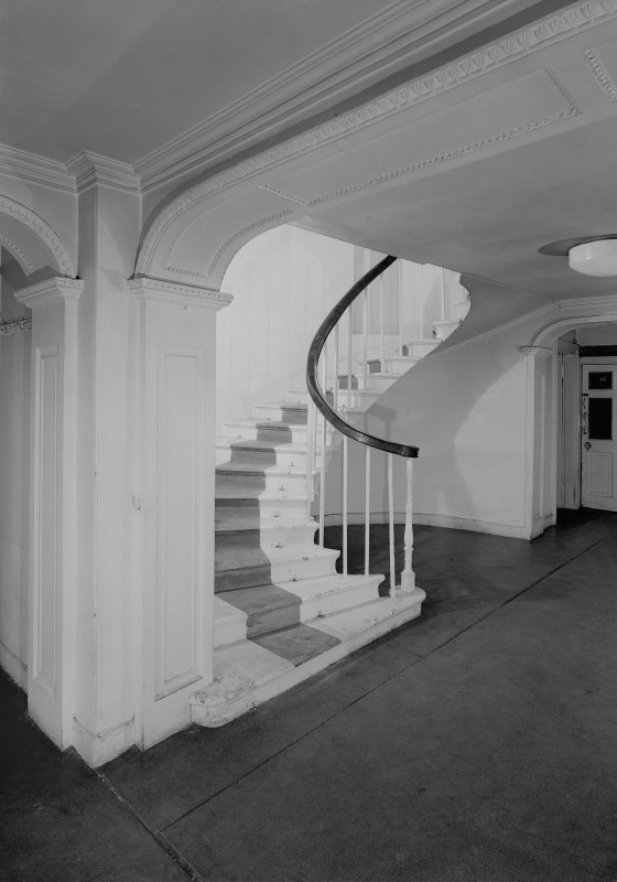View of hall (1768) and staircase, Auchenbowie House.