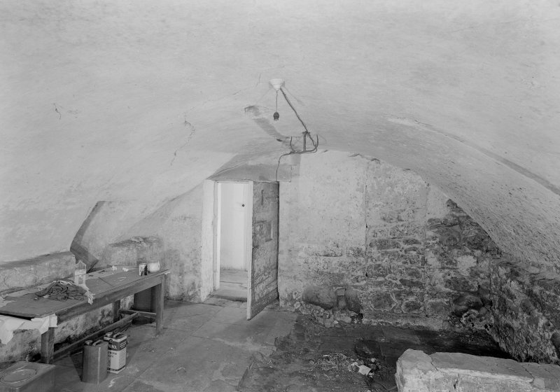 View of cellar on ground floor of main block, Auchenbowie House.