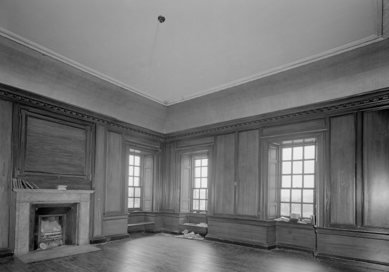 View of library on second floor, Auchenbowie House.