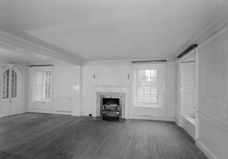 View of dining room on first floor, Auchenbowie House.