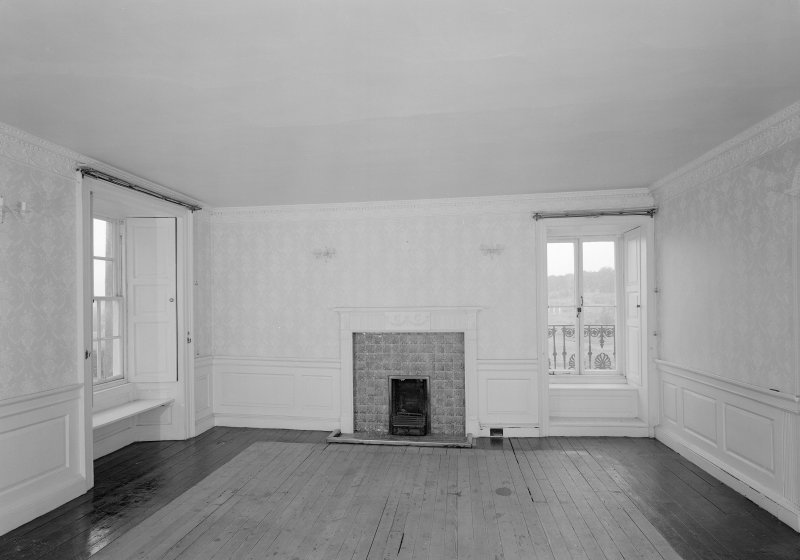 Vew of south room on first floor, Auchenbowie House.